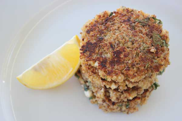 Quinoa patties with feta and oregano | Veggie Mama