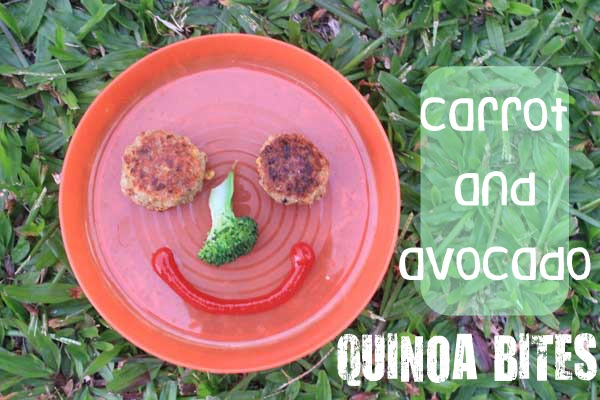 Meatless Monday kid food: carrot and avocado quinoa bites