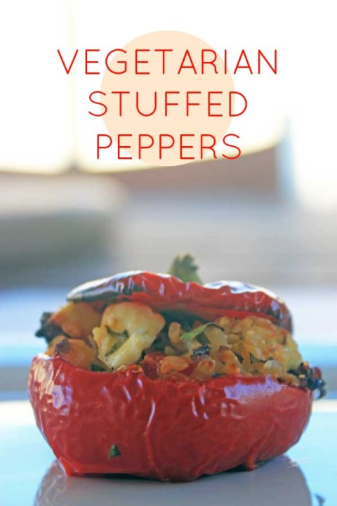 A flavour-packed brown rice version of vegetarian stuffed capsicum. Peppers, FTW!