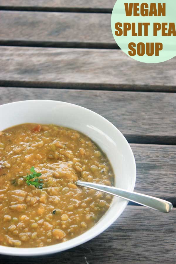 When you want a creamy, smoky, thick, chunky soup on a cold winter's day, then throw this vegan split pea soup in the crock pot and you'll thank me!