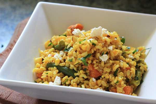 Golden rice salad