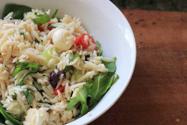 Greek style risoni salad recipe | Veggie Mama