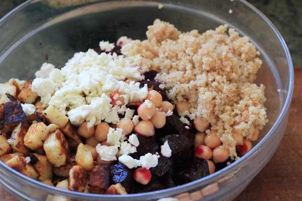 beet + haloumi salad recipe | Veggie Mama