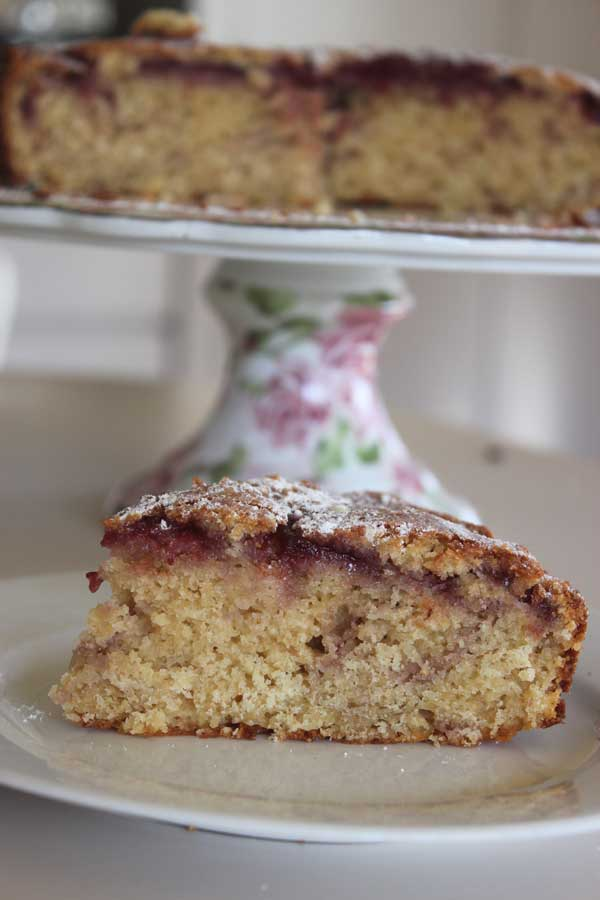 Lookin' to bake? Look no further than this Raspberry Jam Cake. Vintage-style with a jammy center.