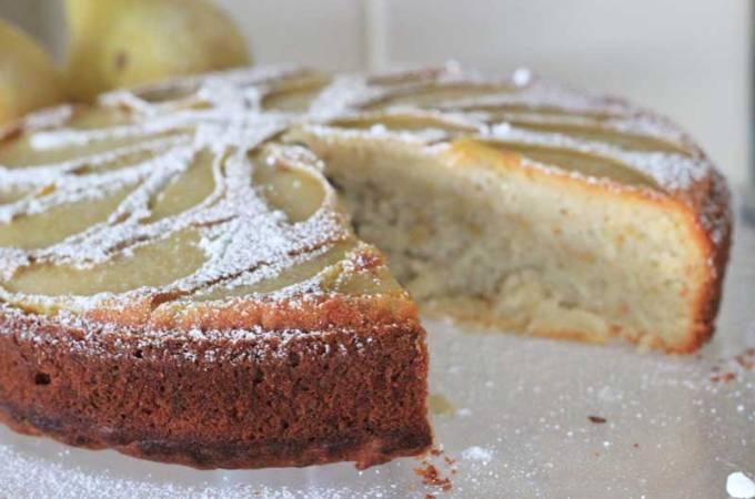 Sorta-Healthy Pear Cake