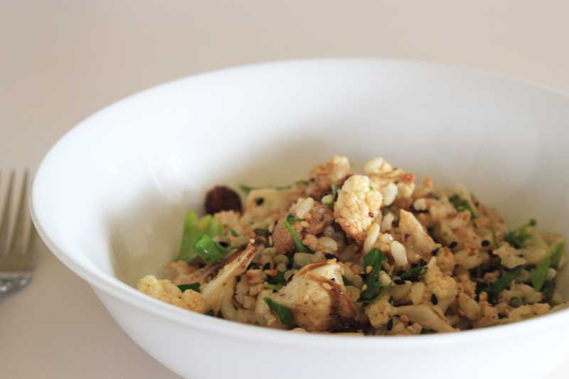 Cauliflower-and-rice-salad