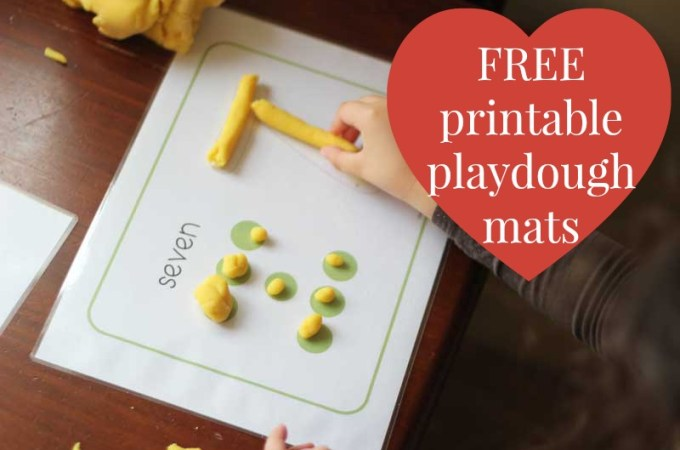 Free printable playdough mats | Veggie Mama