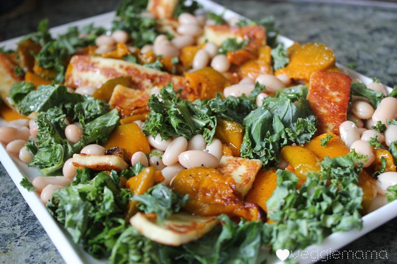 loving earth pumpkin and haloumi salad copy
