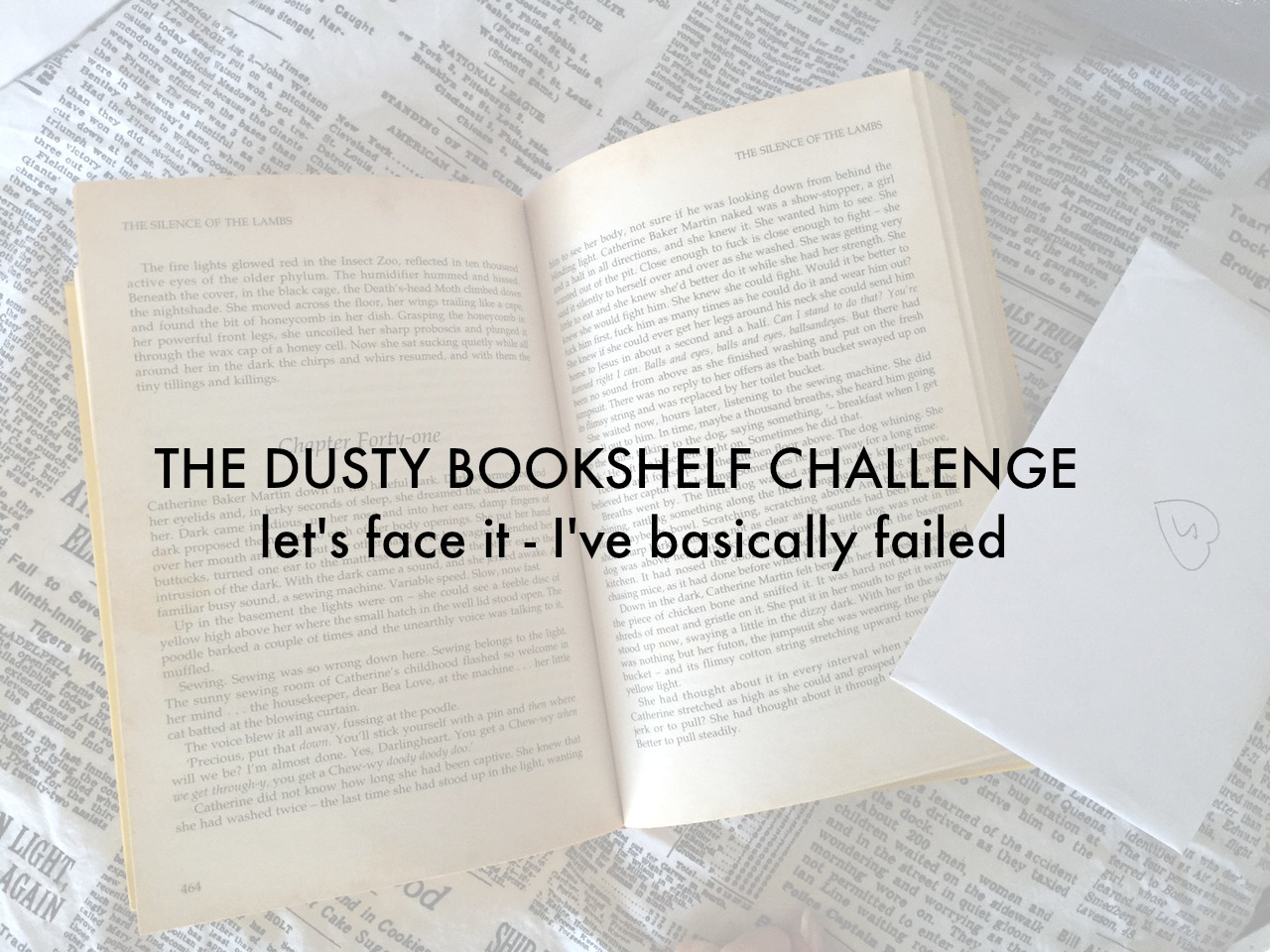 the dusty bookshelf challenge