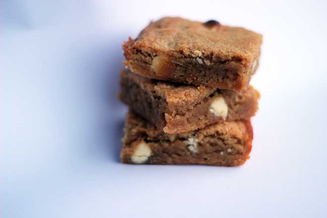 White Chocolate Bean Blondies
