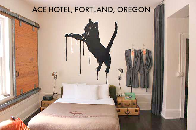 Ace hotel, Portland, Oregon on Veggie Mama