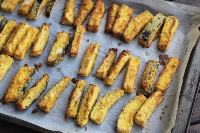 Crispy Baked Eggplant Chips with Sweet Chilli Mayo