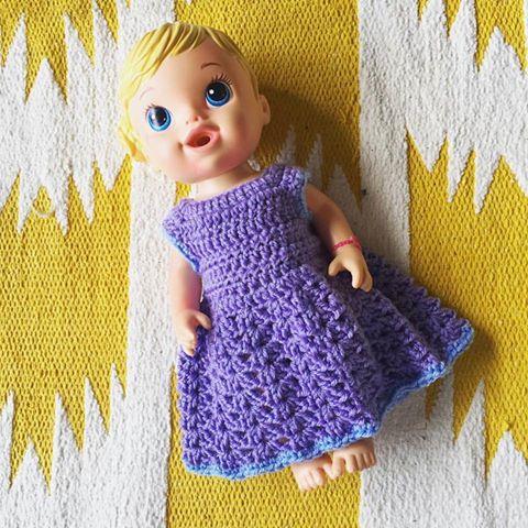 Veggie Mama Doll dress Crochet