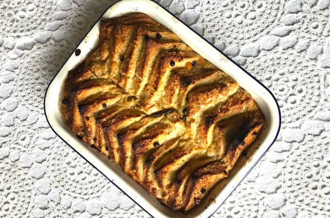 Spiced Eggnog Bread and Butter Pudding