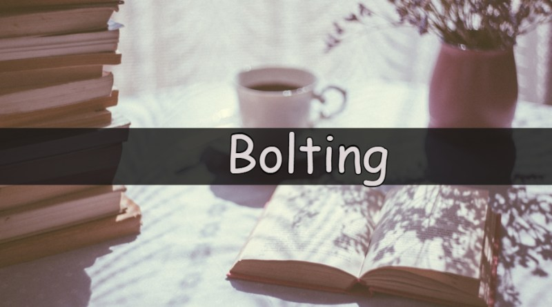 Each week I like to share my understanding of a horticulturalword or term. This week we are looking at the word bolting.
