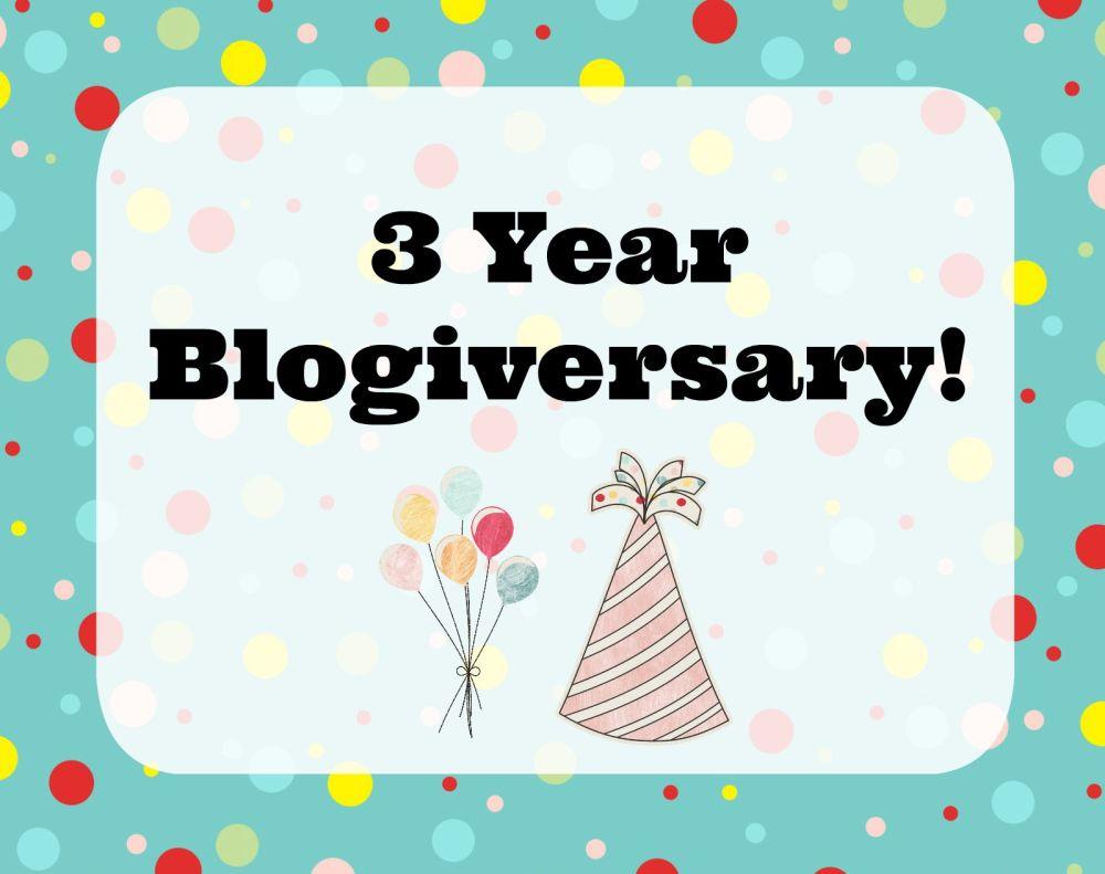 3 Year Blogiversary! (1/4)