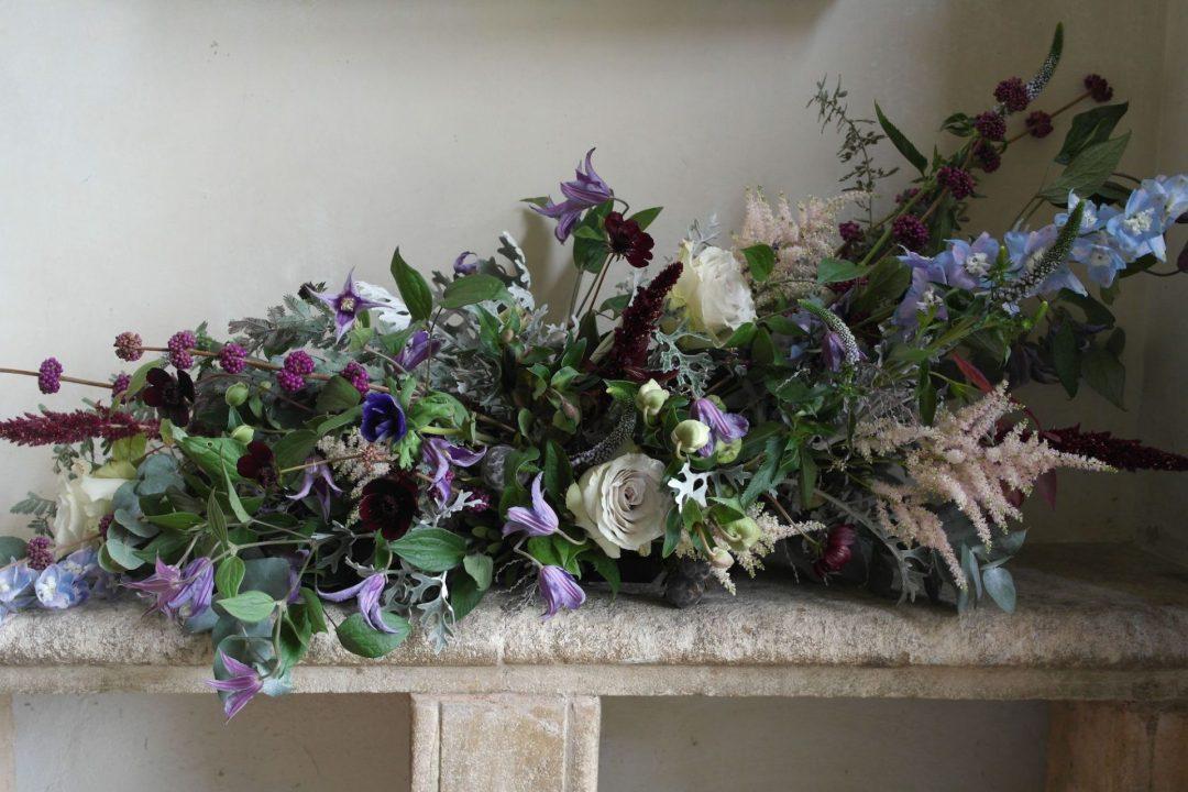 Purple and green florist bespoke flowers The Velvet Daisy