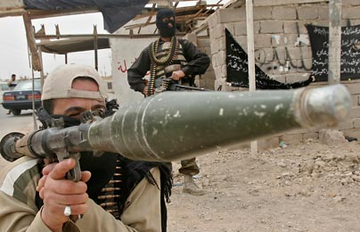 Mahdi Army soldier with rocket
