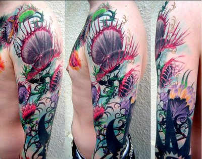 Venus fly trap plant tattoo