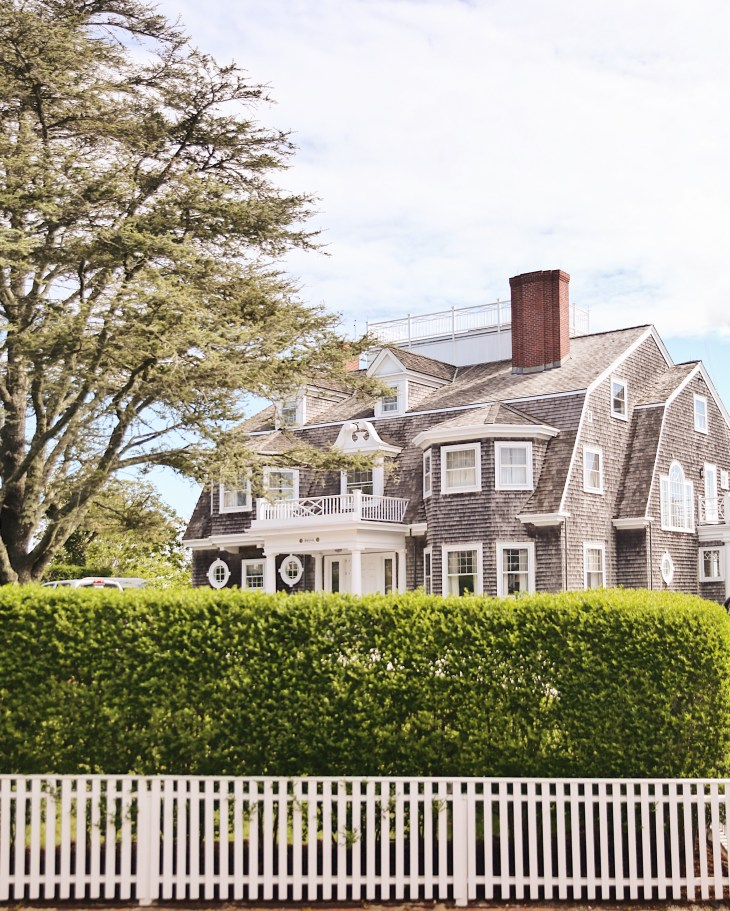 """A """"grey lady"""" on Cliff Road, Nantucket"""