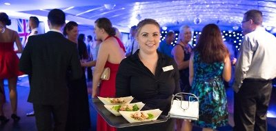 Private Functions in Darwin with Friendly Crew carrying food