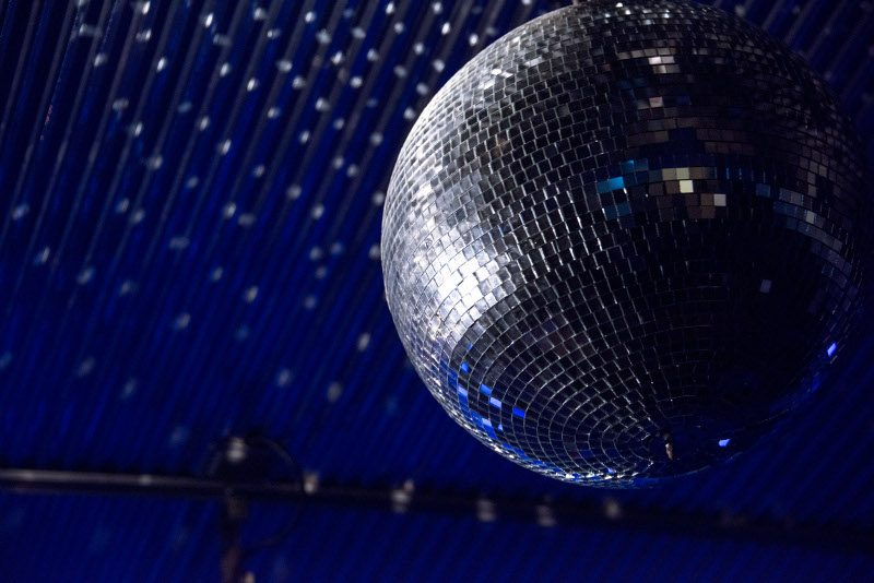 Mirror ball features for party function at Darwin