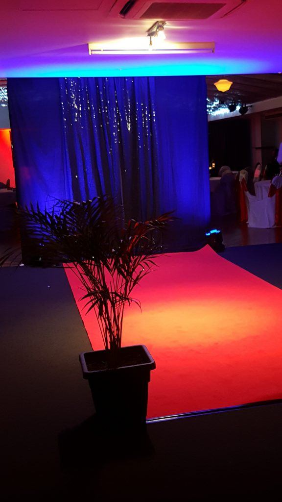 Red carpet at the venue at fannie bay setup for Private function at Darwin