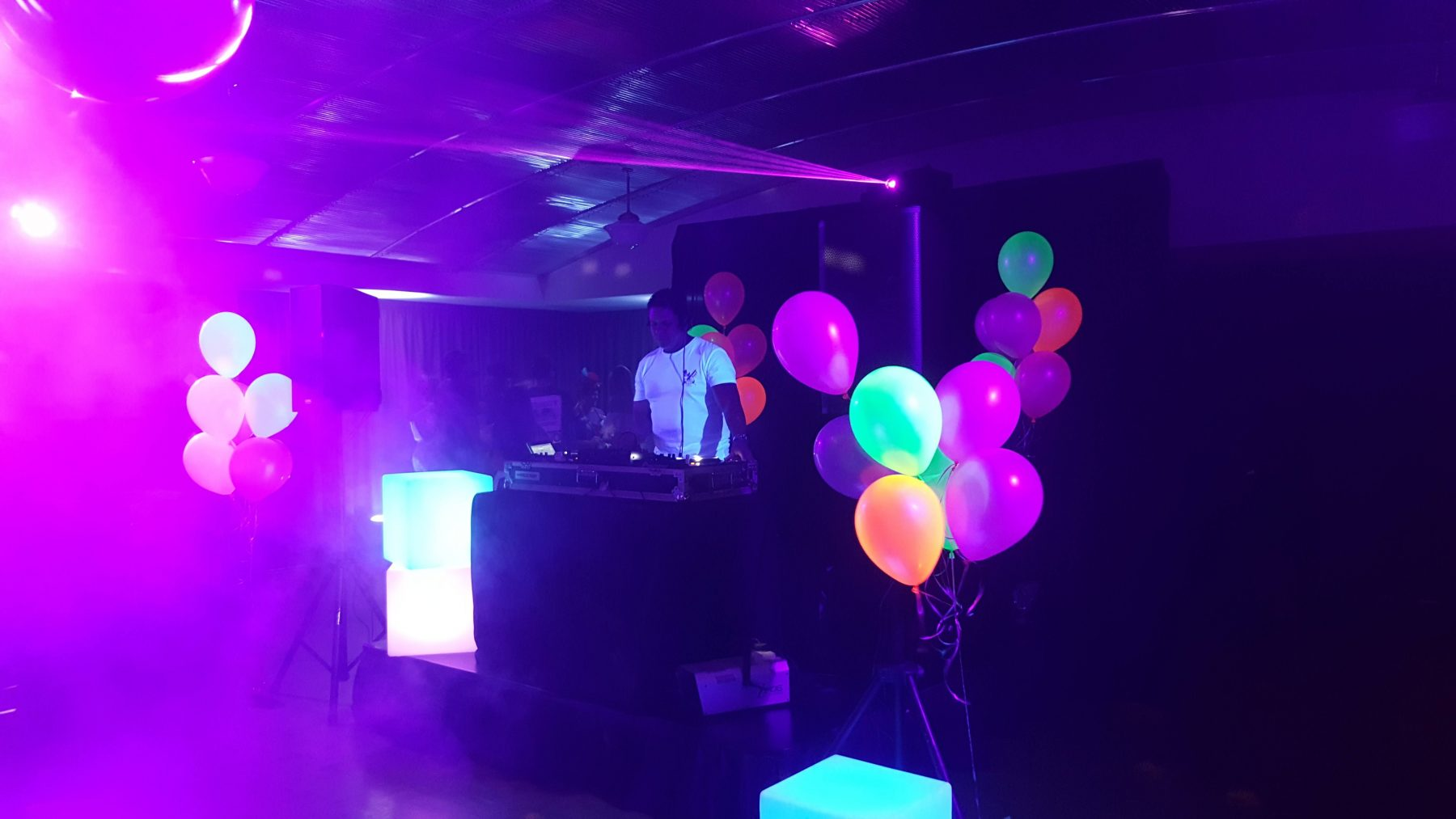 Professional Party DJ for Fluro Neon Glow Party in Function Venue Darwin Darwin