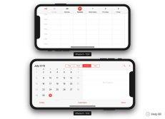 iPhone-XS-Plus-Calendar