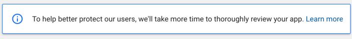 ההודעה של גוגל עבור המפתחים
