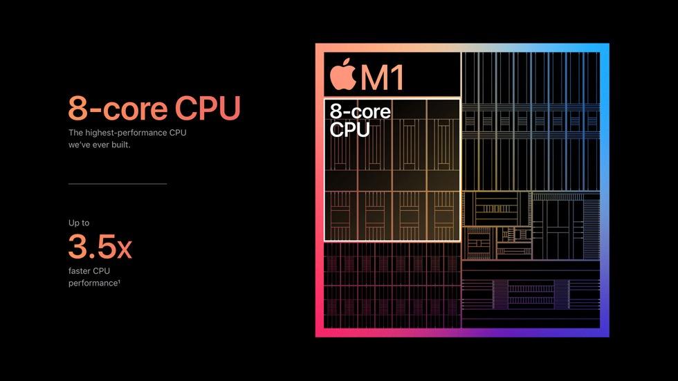 מעבד ה-M1 מבוסס ARM של אפל \ תמונה: אפל