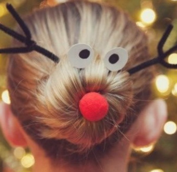 Rudolph, the red-nosed reindeer Christmas Hair Style