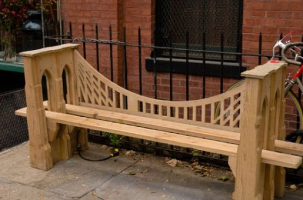 Bridge Themed Park Bench