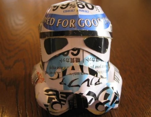 Stormtrooper Sculpture Made From Recycled Drinks Cans
