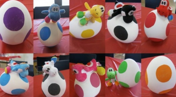 Yoshi Eggs Painted Easter Eggs