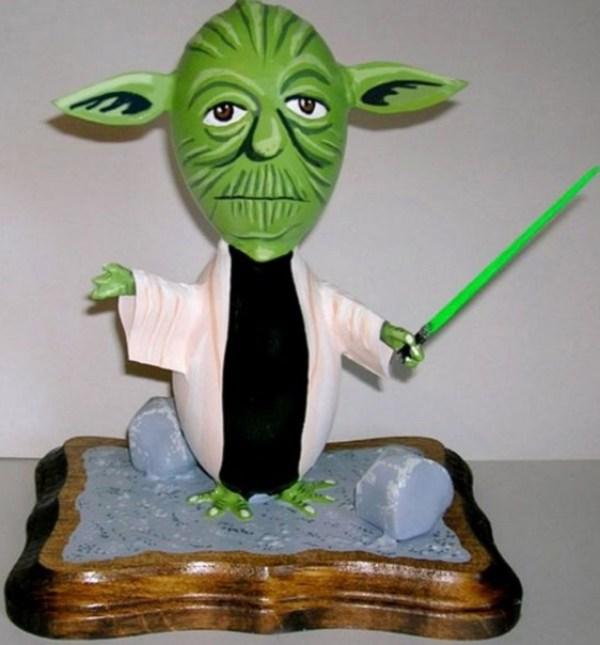 Yoda Painted Easter Egg