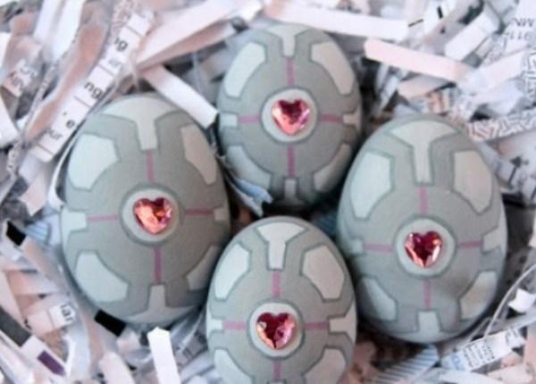 Portal companion cube Painted Easter Eggs