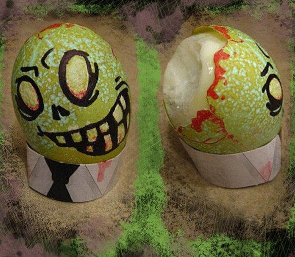 Zombie Painted Easter Eggs