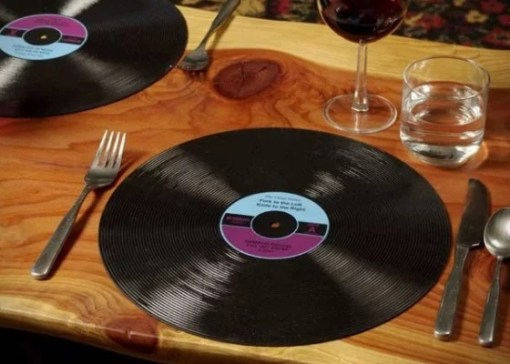 Vinyl Record turned into Placemats