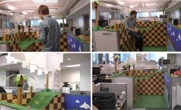 Sega's Sonic The Hedge Hogs Office Prank Makeover