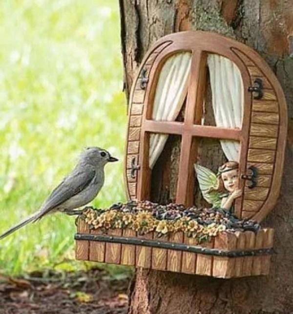 Fairy Window Bird Feeder