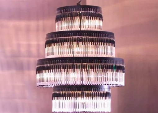 Chandelier made from BIC pens