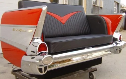1957 Chevy Bel Air Car Couch - Back End