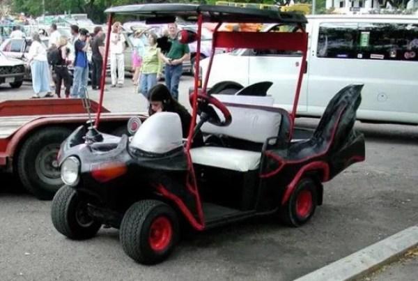 TV show classic Batman golf cart