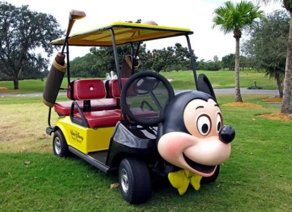 Mickey Mouse Golf Cart