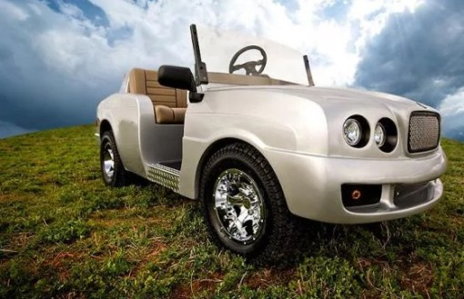 Bentley inspired golf cart