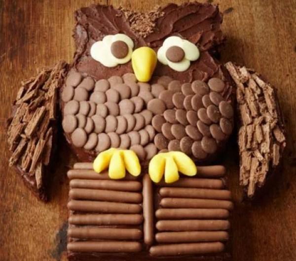 Chocolate Finger owl cake