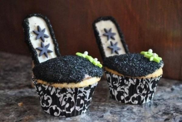 Black High Heels Cupcakes