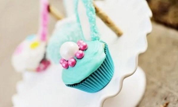 Light Blue High Heels Cupcakes