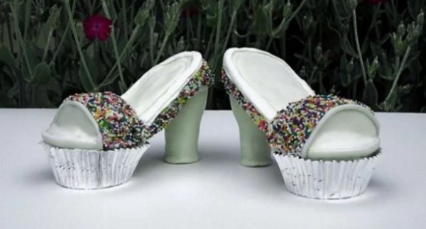 Spotty High Heels Cupcakes
